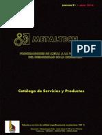 Catálogo de Servicios y Productos