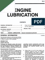 12 Engine Lubrication 99 Mirage
