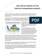 How Will We Maintain our Transportation Network