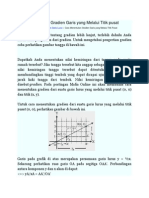 Cara Menentukan Gradien Garis Yang Melalui Titik Pusat