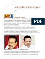 Presidential Debates and Its Impact on the Voter