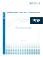 Technologies Cost Analysis-hydropower