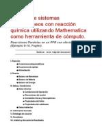 5 Reacciones Paralelas en Un PFR Con Efectos Térmicos