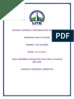 Analisis de Aire 2012-2013