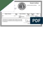 mo certificate