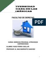 Procesos Urgentes, Medidas Autosatisfactivas, Proceso Cautelar y El Proceso Civil Peruano