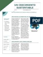 Desarrollo sustentable(boletín informativo)