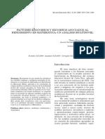 Factores Endógenos y Exógenos Asociados Al Rendimiento en Matemática. Un Análisis Multinivel