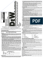 De Walt Drill User Guide