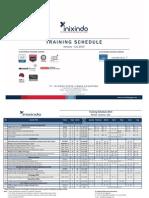 Training Schedule Inix Jogja Jan - July 2014