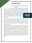 Summary of Leadership Theories