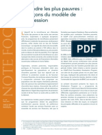 CGAP Focus Note Reachling the Poorest Lessons From the Graduation Model Mar 2011 French