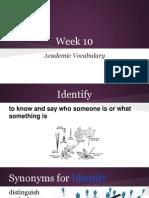 week 10 academic vocabulary