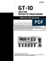 manual procesador boss GT-10