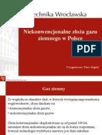 Niekonwencjonalne Złoża Gazu Ziemnego w Polsce