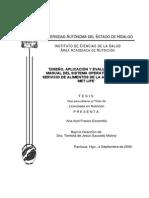 Diseño, Aplicación y Evaluación Del Manual Del Sistema Operativo Para El Servicio de Alimentos de La Aseguradora Met Life