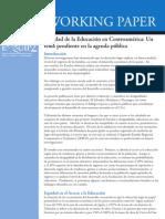 La Equidad Educativa en Centroamérica. Un Tema Pendiente en La Agenda Pública