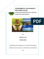 Environmental Sustainability and Human Values