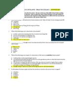 Botany Practice Test i - Answer Key (1)