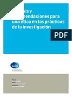 CECTE Anlisis y Recomendaciones Para Una Tica en Las Prcticas de La Investigacin