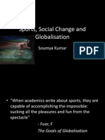 Sports, Social Change and Globalisation