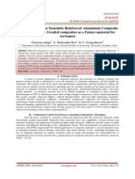 A review of Carbon Nanotube Reinforced Aluminium Composite and Functionally Graded composites as a Future material for Aerospace