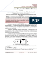 A Detailed Modelingof a Five Parameters Model for Photovoltaic Modules