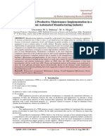 Evaluation of Total Productive Maintenance Implementation in a Selected Semi-Automated Manufacturing Industry