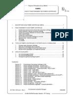 D5 - Technologie Et Fonctionnement Des Pompes Centrifuges
