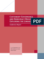 Customary Governance and Democracy Building Exploring the Linkages PDF