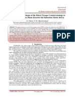 Implementation scheme of the Direct Torque Control strategy to Four Switch Three Phase Inverter fed Induction Motor drives