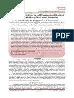 Thermal Expansivity Behavior and Determination of Density of Al 6061-Sic-Gr Hybrid Metal Matrix Composites