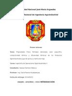 1 Informe de Las Propiedades Fisico Termales