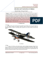 Design Consideration and Construction of a Biplane