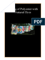 Dyeing of Polyester With Natural Dyes