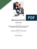 Notice Bnc Express EDI-TDFC 2013