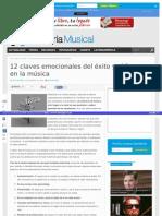 Las 12 Claves Del Éxito y El Fracaso en la Música