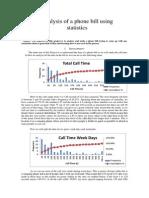 Analysis of a Phone Bill Using Statistics