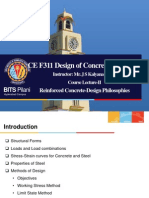 Lecture-II Basics of Reinforced Concrete Design