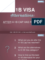 Find H-1B Alternatives After H1B Cap Has Reached