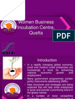 Women Business Incubation Centre, Quetta