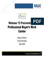 Release 12 Procurement Professional Buyers Work Center