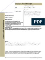 Human Capital Metrics Handbook Employee Bench Strength example