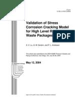 Stress Coorosion SCC