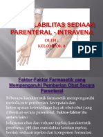 BIOAVAILABILITAS SEDIAAN PARENTERAL - INTRAVENA.pptx