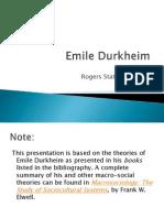 Durkheim Core Philosophy - Frank W. Elwell