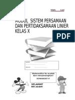 modul sistem persamaan dan pertidaksamaan linier.docx