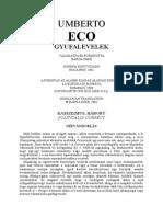 Eco Umberto Gyufalevelek