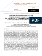 Effect Management of Elevated Temperature on Mechanical and Microstructure Properties of Reinforced Carbon Fiber Lightweight Concrete