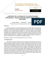 A Review on Automatic Wavelet Based Nonlinear Image Enhancement for Aerial Imagery